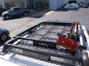 Depher rack with rear storage extension